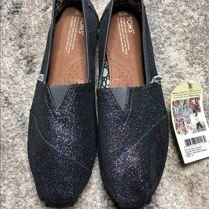 Black Multi Glitter Size 10 Toms